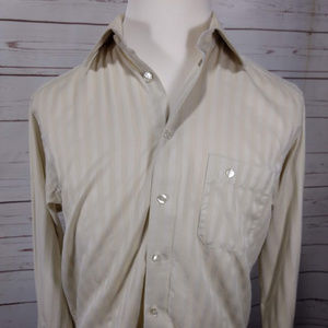 ETON Ganghester Mens Button Down Ivory Stripe Shir